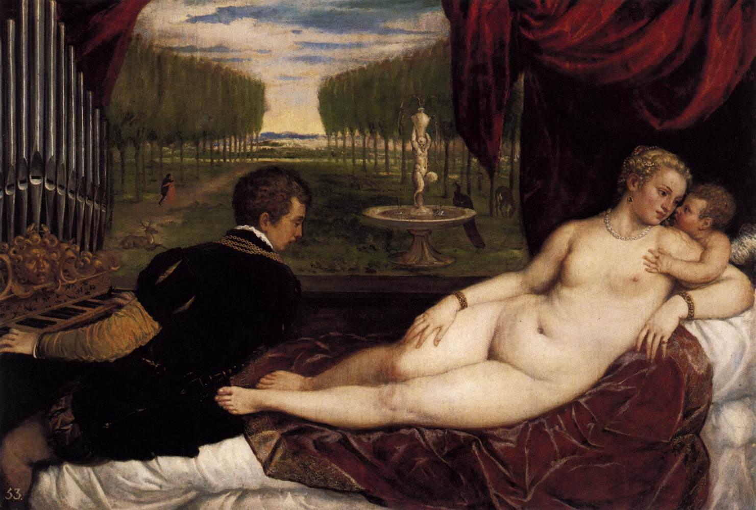 Venus with Organist and Cupid سے طرف کی Titian