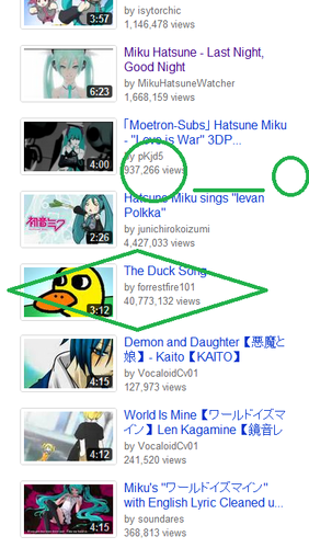 Vocaloid Youtube Suggestions FAIL