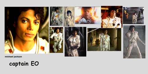 Captain Eo achtergrond possibly with anime and a portrait entitled captain EO