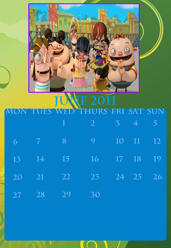 Fanboy and Chum Chum Club वॉलपेपर titled fbacc calendar june 2011