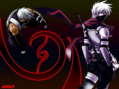 Kakashi wallpaper with a breastplate and an armor plate titled kaka- sensei