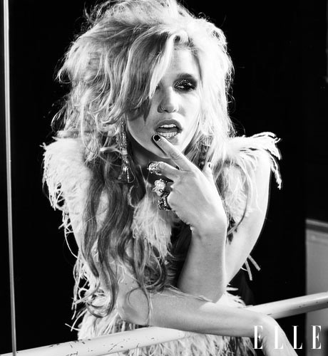 ke$ha elle photoshoot