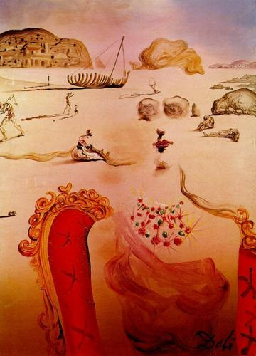 Fine Art پیپر وال probably containing a brussels فیتا, فیتے entitled paranoia salvador dali