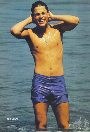 Rob Lowe kertas dinding possibly containing a hunk, swimming trunks, and a six pack called rob lowe