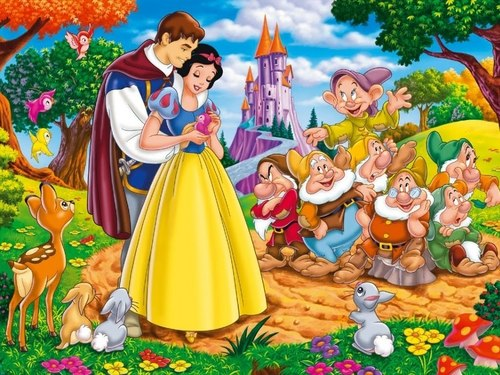 snow white prince and dwarfs
