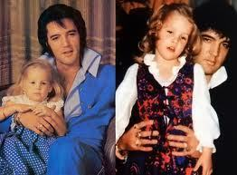 sweet little Lisa and her daddy Elvis