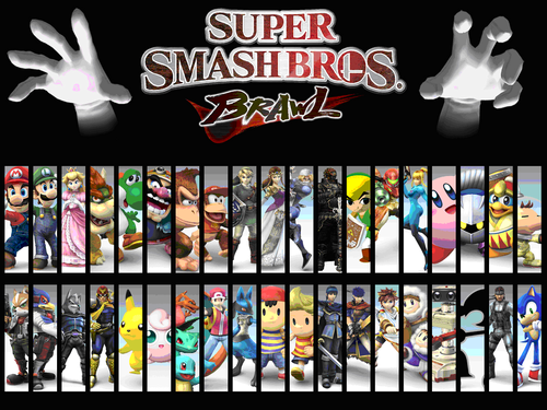 Super Smash Bros. Brawl 壁纸 possibly with a stained glass window and 日本动漫 titled the cast of SSBB