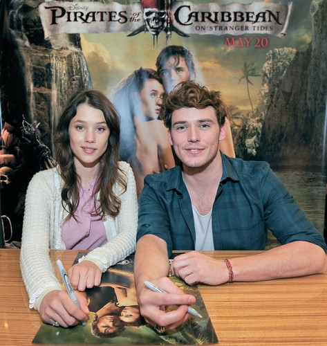 with Astrid Berges-Frisbey