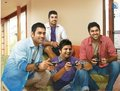 with collegues - suresh-raina photo