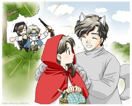 maya in red riding capuche, hotte C= *masumi's hilarious!!!* xpp