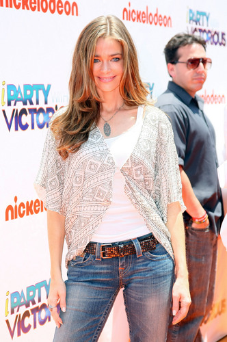 """Denise Richards wallpaper probably containing a cardigan and a pullover called """"iParty With Victorious"""" Screening in Hollywood 4 06 2011"""