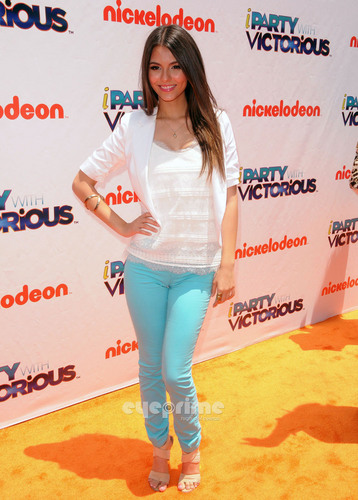 "Victoria Justice wallpaper titled ""iParty With Victorious"" Screening in Hollywood"