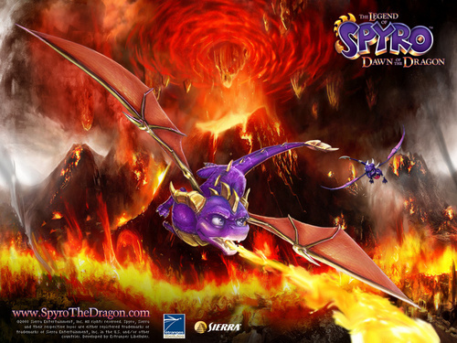 Spyro The Dragon پیپر وال with a آگ کے, آگ and a آگ کے, آگ titled 134