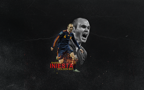 Andrés Iniesta Spanish National Team wolpeyper
