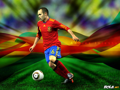 Andrés Iniesta Spanish National Team karatasi la kupamba ukuta