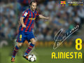 fc-barcelona - Andres Iniesta 2009/10 wallpaper
