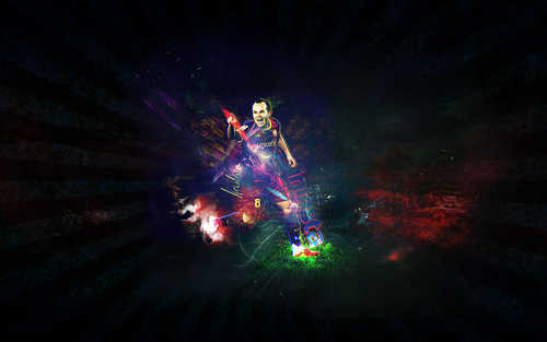 FC Barcelona wallpaper titled Andres Iniesta Wallpaper