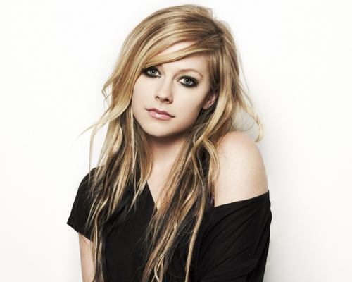 Avril Lavigne Hintergrund containing a portrait titled Avril Lavigne