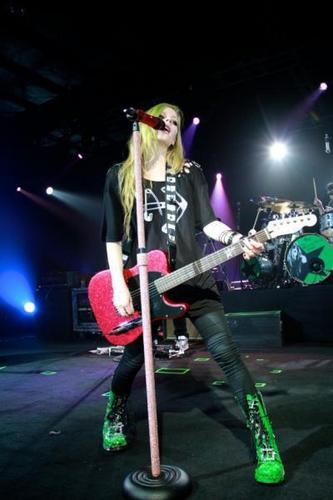 Avril Lavigne Wallpaper With A Concert Entitled The Black Star Tour