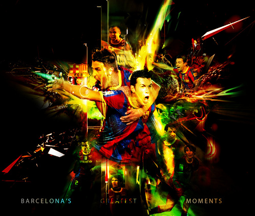 Barcelona Players Celebrating 2010/11