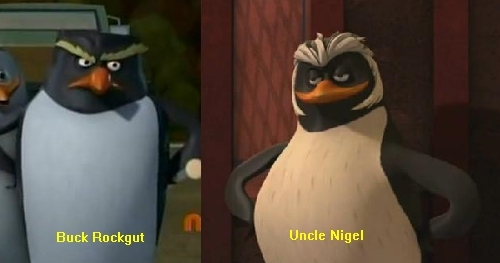Buck Rockgut and Uncle Nigel Comparison