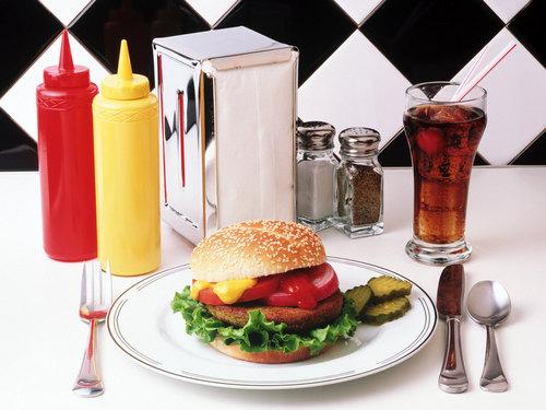 Burger & coke