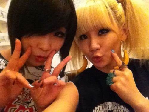 CL AND MINZY IN TWITTER