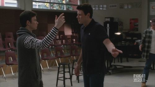 Cory & Chris in Glee<3 - cory-monteith-and-chris-colfer Screencap