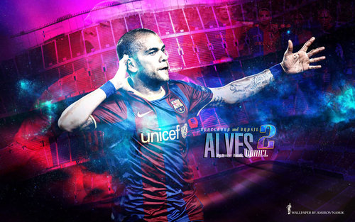 Dani Alves Wallpaper - fc-barcelona Wallpaper