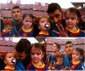 David Villa and his daughters!