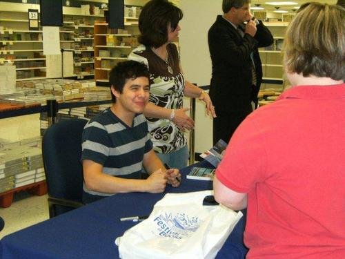 David at CD and Book signing at Utah Festival of کتابیں at BYU Bookstore :)