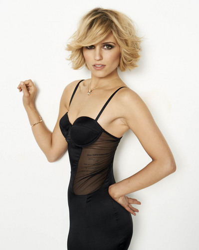 Dianna Agron wallpaper probably containing a bustier and a maillot titled Dianna Agron New Cosmo Photoshoot