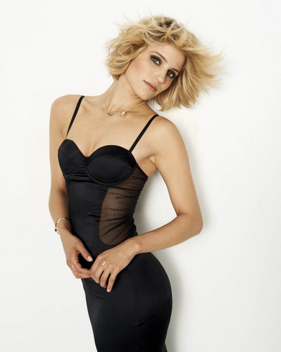 Dianna Agron پیپر وال probably with a bustier, بسٹیر and a maillot titled Dianna Agron New Cosmo Photoshoot