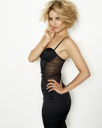 Dianna Agron wallpaper probably with a bustier, tights, and a chemise called Dianna Agron New Cosmo Photoshoot