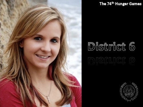 Hunger Games fond d'écran with a portrait titled District 6 Tribute Girl