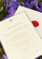 Edward and Bella's wedding invitation card