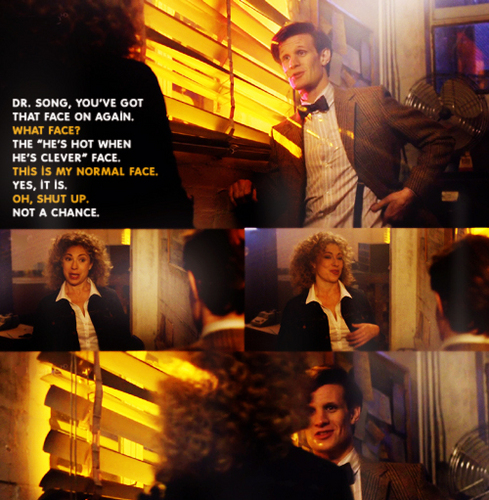 Eleven and River flirting with each other ;)