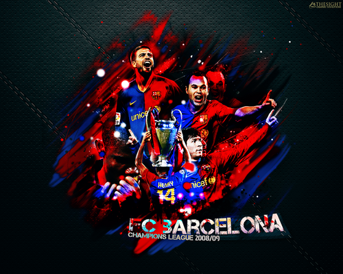 FC Barcelona CL Winner of 2008/09 壁紙