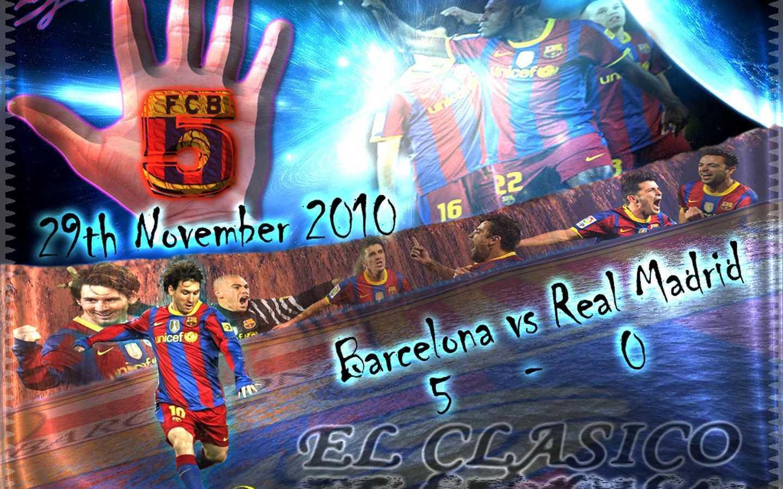 FC Barcelona El Clasico پیپر وال (November 29 2010)