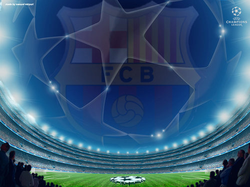 FC Barcelona Logo Champions League 2010/11Wallpaper