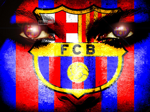 FC Barcelona wallpaper possibly with a shield called FC Barcelona Logo Wallpaper