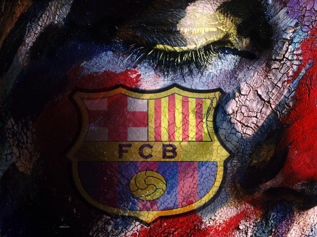 FC Barcelona Logo karatasi la kupamba ukuta