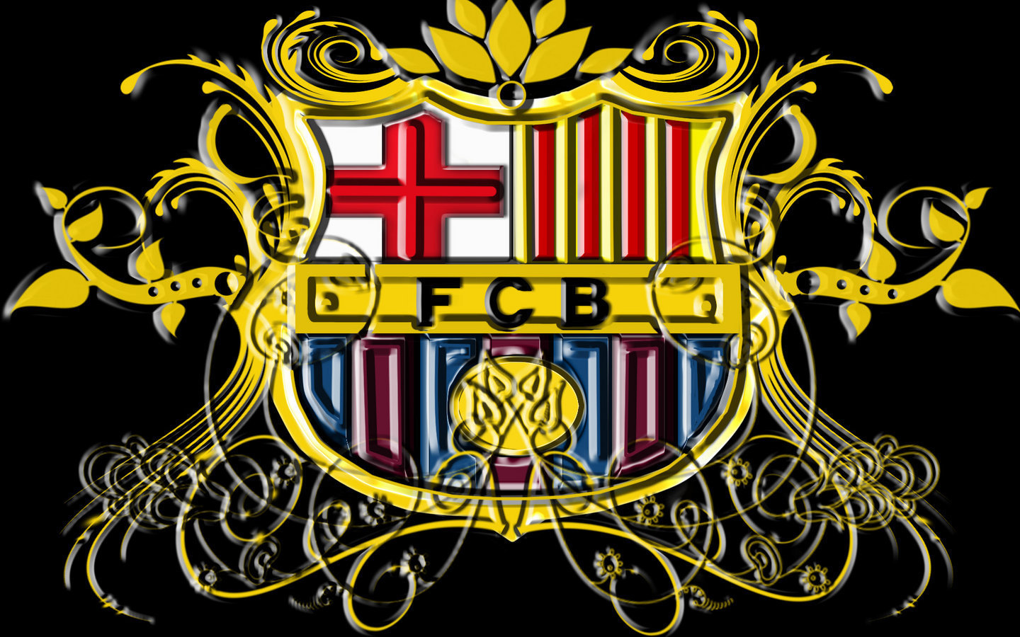 Download FC Barcelona FC Barcelona Logo Wallpaper