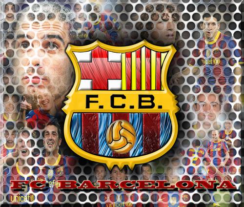FC Barcelona Logo 바탕화면