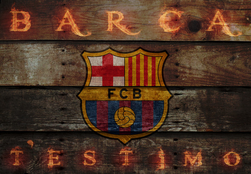 FC Barcelona پیپر وال possibly with a wine cask entitled FC Barcelona Logo پیپر وال