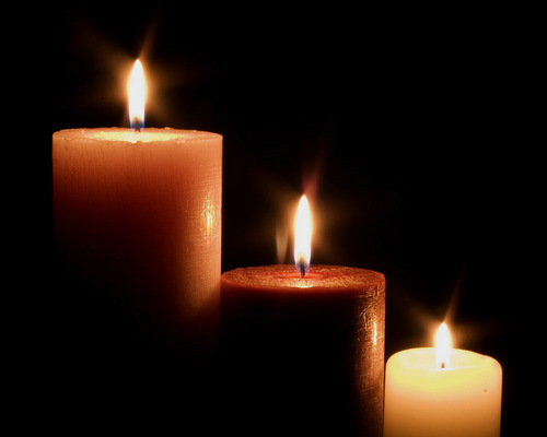 Flickering Firelight - candles Wallpaper