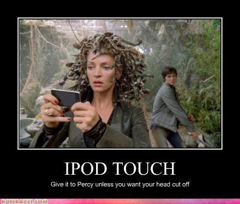 For olympus sake, give him the damn Ipod!