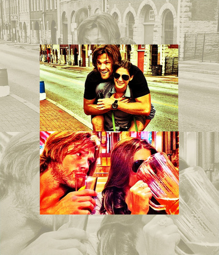 Jared Padalecki & Genevieve Cortese wallpaper entitled GenPAdalecki