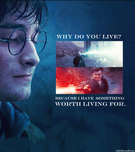 Harry Potter Vs. Twilight achtergrond with anime called Why do u live?