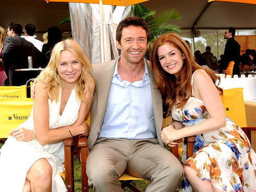 Hugh Jackman with Naomi Watts and Isla Fisher